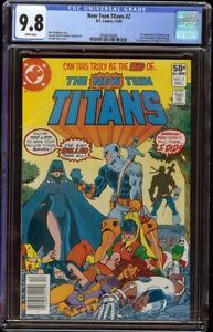 New Teen Titans # 2 CGC 9.8 White (DC 1980) 1st appearance Deathstroke Newstand