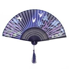 Handfächer Taschenfächer Sommer Fächer aus Bambus und Stoff mit schönem Motiv