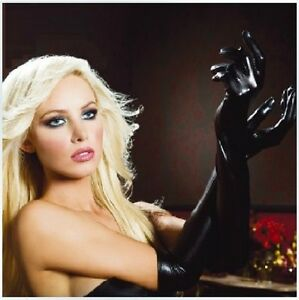 Women's Fetish Gloves PVC Adult Wet Look Latex Sexy Costume Accessories, UK Sell