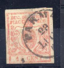 FRANCOBOLLI ANTICHI STATI 1859 PARMA 15 CENTESIMI USATO PARMA 28/7 A3765