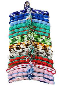 19 Vintage Crochet Hangers Wood Clothing Afghan Knit Yarn Nonslip Handmade 70s