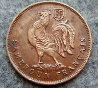 FRENCH CAMEROUN 1943 1 FRANC, ROOSTER