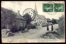 cpa 21 Saulieu La Villeneuve . le rue de l'église . Côte d'Or. Bourgogne