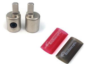 KnuKonceptz Set Screw Power / Ground 0 to 4 Gauge Wire Amp Input Reducer Pair
