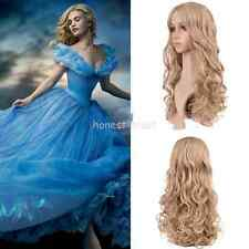 New Movie Hair Princess Cinderella Wig Long Curly Ash Blonde Anime Cosplay Wig