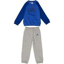 Adidas Infants Boys Tracksuit Set | High Res Blue Tops | Grey Bottoms CF7376