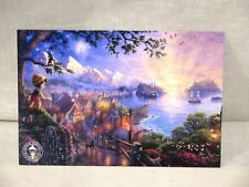 "Thomas Kinkade Disney Dreams Collection ""Pinocchio Wishes Upon A Star"" Print"