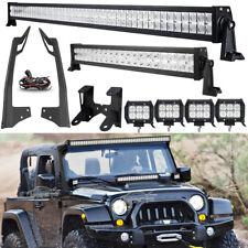 """52"""" 700W+22"""" 280W LED Light Bar+4x 18W Pods +Mount Bracket For Jeep Wrangler JK"""