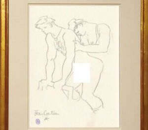 Jean Cocteau Drawing Nude Male Gay French Homosexual Sketch Sailors Marins