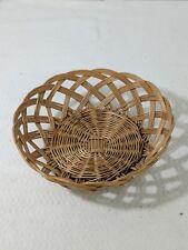 A3 Vintage Wicker Rattan Woven Basket Dish Light Color