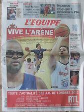 L'Equipe du 8/8/2012 - J/O Londres - Steeve Guénot - Sabot - Hand et basket Fr.