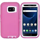 For Samsung Galaxy S7 / S7Edge Case Shockproof Armor Cover + Tempered Glass