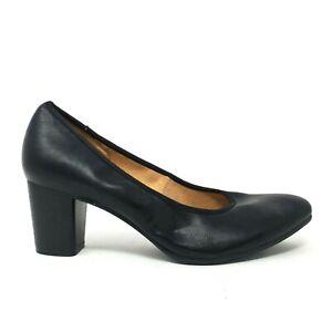 NATURALIZER Womens Black Slip On Heels Shoes Size 9.5 M
