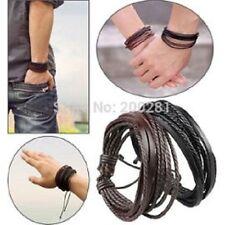 Un bracelet simili cuir MARRON homme ou femme réf 1500