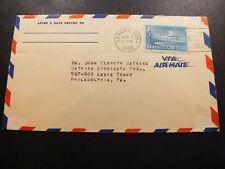 Quba Aerogramme Cover 4 Mar 1938 Habana Quba to Philadelphia Pa Air Mail