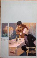 Tosca Opera 1900 Art Nouveau Postcard - Leopoldo Metlicovitz/Artist-Signed
