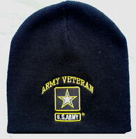 Army Vet Veteran & Star Beanie Official US Army Licensed Beanie Warm Hat