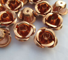 Rose in Copper 25mm Flower Loose Finding Wholesale Supplies f120 (8pcs)