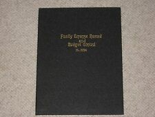 Standard Family Expense Record and Budget Control No. 1754 dated 1937 Hardcover