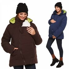 Happy Mama. Women's Maternity Padded Jacket Hood Carrier Removable Insert. 075p