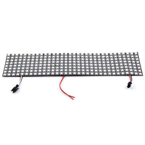 8*32 Full color WS2812B Panel SK6812 5050 RGB SMD Flexible LED Pixel Black PCB