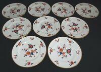 "Coalport England Khotar Set of 9 Bread Plates -6 1/4"" Bone China"