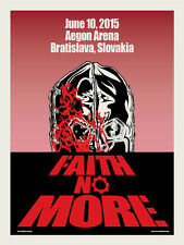 FAITH NO MORE silkscreened poster Slovakia 2015 by Ross Sewage DAWN OF THE DEAD