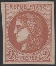 "FRANCE STAMP TIMBRE N° 40 B "" CERES BORDEAUX 2c BRUN-ROUGE "" NEUF x TTB J784"