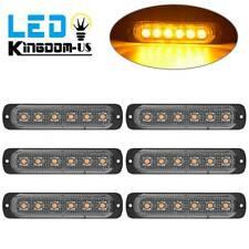 6x Amber LED Emergency Strobe Light Car Warning Hazard Flash Side Marker Lights
