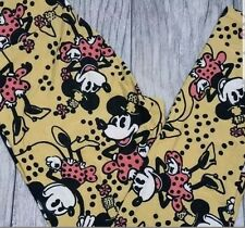 Lularoe OS Vintage Minnie Mouse Leggings Disney Collection  New!