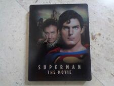 SUPERMAN THE MOVIES 1-4 Christopher Reeve 4 Disc Blu-ray SteelBook DC Comics