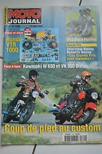 MOTO JOURNAL N°1380 KAWASAKI W650 MUZ BAGHIRA 660 BLACK PANTHER APRILIA SCARABEO