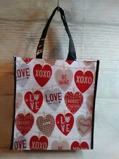 NEW! LARGE Valentine's Day HEARTS Love Reusable Shopping Tote Gift Bag Farmhouse
