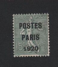 PREO 025 N°25 5 C VERT-OLIVE TYPE SEMEUSE LIGNEE POSTE PARIS 1920