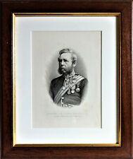 More details for scottish antique framed print the gordon highlanders general sir john a. ewart