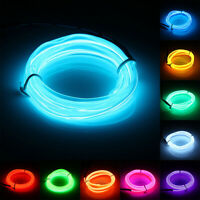 1M LED EL Wire Neon Glow String Strip Light Rope Car Decor Party  H W