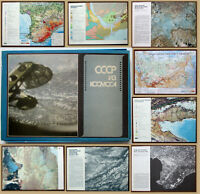 "1983 RR! Soviet Russian Full Set of 63 Posters Maps Photos ""USSR FROM SPACE"""