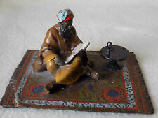 Bergman Cold Painted Bronze -   Arab Reading a Book