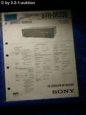 Sony Service Manual STR DE235 FM/AM Receiver (#5232)