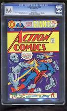 Superman Action Comics 449 CGC 9.6 Curt Swan Robot Giant Size White pgs 1975