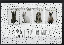 Palau 2013 MNH Cats or World I 4v M/S Pets Russian Blue Siamese Turkish Angora