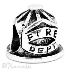 Fire Department Dept Firemen, Fireman, Firefighter Helmet European Charm Bead