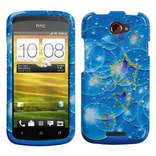 For T-Mobile HTC ONE S HARD Protector Case Snap On Phone Cover Bubble Stars