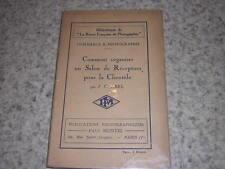 1928.comment organiser un salon réception pour la clientèle / Abel.photographie