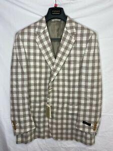 CANALI EXCLUSIVE Italian WOOL LUXURY Suit Jacket UK 46