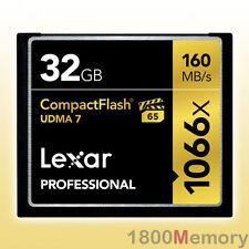 GENUINE Lexar 32GB Professional 1066X Compact Flash CF 160MB/s UDMA7 VPG-65 HD