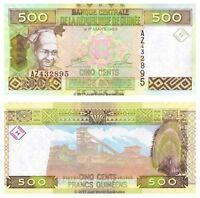 Guinea 500 Francs 2006 Replacement P-39a Banknotes UNC