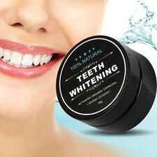 Natural Teeth Whitening Powder Organic Activated Charcoal Bamboo Teeth White S[