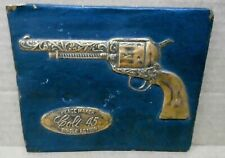 PEACEMAKER COLT 45  Hammered Copper Plaque Wall or Counter Display Circa 1971