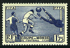 France 349, MNH. World Cup Soccer Championship, France. Players, 1938